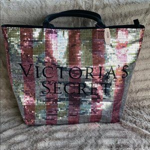 NWT Victoria's Secret Sequin Tote Bag